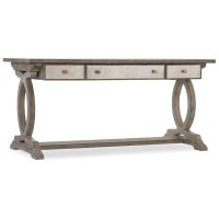 Home Office Rustic Glam Trestle Desk Product Image