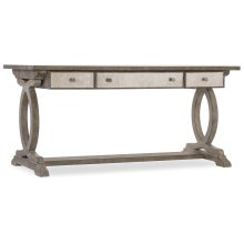 Home Office Rustic Glam Trestle Desk