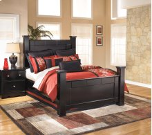 Shay - Almost Black 4 Piece Bed Set (Queen)