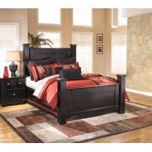 Shay - Almost Black 4 Piece Bed Set (Queen)
