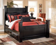 Shay - Almost Black 5 Piece Bed Set (Queen)