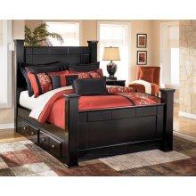 Shay - Almost Black 5 Piece Bed Set (Queen)