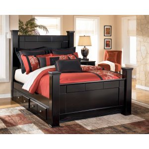 Ashley Furniture Shay - Almost Black 5 Piece Bed Set (Queen)