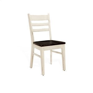 Sunny DesignsCarriage House Ladderback Chair w/ Wood Seat