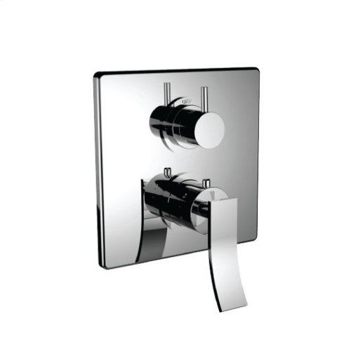 "7099cu-tm - 1/2"" Thermostatic Trim With Volume Control and 3-way Diverter in Bright Pewter"