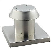 """Roof Cap, For Flat Roof, Aluminum, Up to 8"""" Round Duct"""