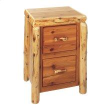 Cedar Two Drawer File Cabinet