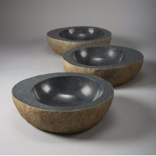 Natural Vessel Black Granite