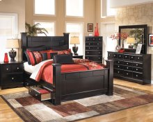 Shay - Almost Black 6 Piece Bedroom Set