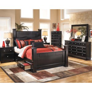 Ashley Furniture Shay - Almost Black 6 Piece Bedroom Set