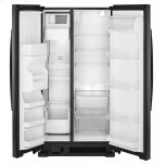 Amana 33-inch Side-by-Side Refrigerator with Dual Pad External Ice and Water Dispenser - Black