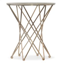 Living Room Highland Park Round End Table w/Marble Top