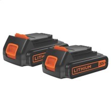 20V MAX* Lithium Ion Battery 2-Pack