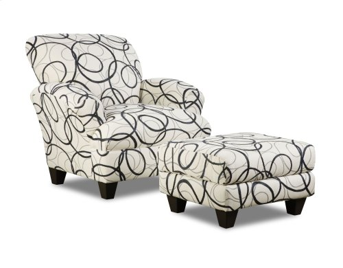 548 Othello Accent Ottoman- Dreamcatcher Steel