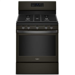 Whirlpool5.0 cu. ft. Whirlpool® gas convection oven with Frozen Bake technology Fingerprint Resistant Black Stainless