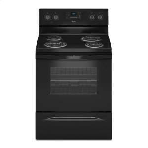 4.8 Cu. Ft. Freestanding Electric Range with AccuBake® System - BLACK