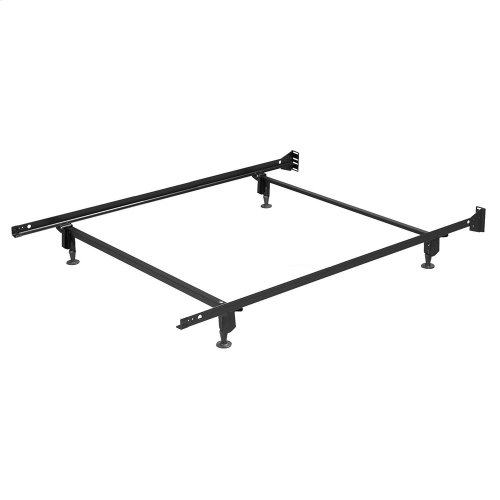 Inst-A-Matic Premium Bed Frame 753G with Headboard Brackets and (4) 2-Piece Glide Legs, Black Finish, Full