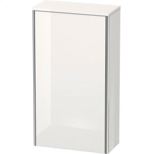 Semi-tall Cabinet, White High Gloss Lacquer