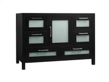 "Athena 48"" Bathroom Vanity Base Cabinet in Black"