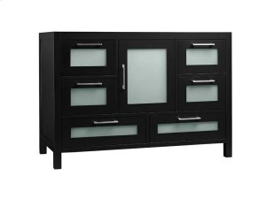"Athena 48"" Bathroom Vanity Base Cabinet in Black Product Image"