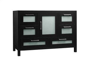 "Athena 48"" Bathroom Vanity Base Cabinet in Black Product Image"
