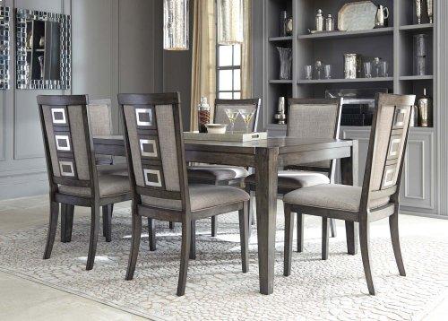 Chadoni - Gray 5 Piece Dining Room Set