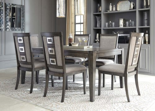 Chadoni - Gray 5 Piece Dining Room Set