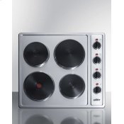 "24"" Wide 230v 4-burner Solid Disk Cooktop"