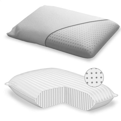 Sleep Plush + Soft Density Latex Foam Pillow, Standard / Queen