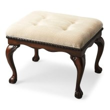The Bench will infuse elegance into virtually any décor with many design flourishes, including shapely Chippendale legs, classic claw and ball feet, and carved apron and seat border. Crafted from wood solids in our Plantation Cherry finish. The comfortabl