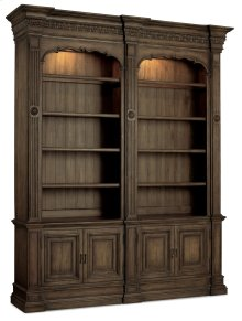 Home Office Rhapsody Double Bookcase (w/out ladder & rail)