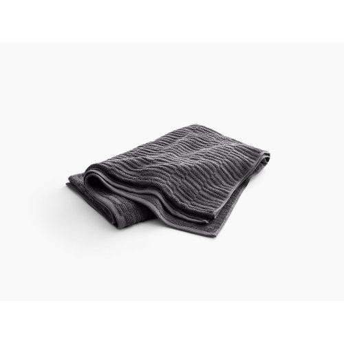 "Thunder Grey Bath Sheet With Tatami Weave, 35"" X 70"""