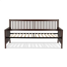 Mission Complete Wood Daybed with Euro Top Spring Support Frame and Open-Slatted Panels, Espresso Finish, Twin
