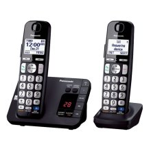 Expandable Cordless Phone with Large Keypad- 2 Handsets