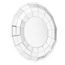 Round Cut Glass Wall Mirror