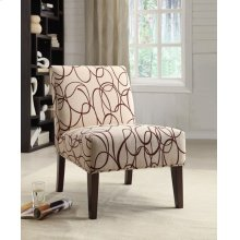 ACCENT CHAIR BEIGE/BROWN FAB.