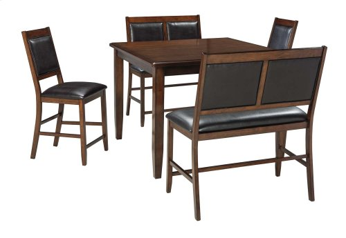 Meredy Counter Table, 2 Benches, and 2 Stools