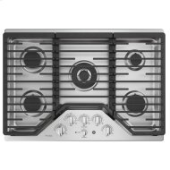 """30"""" Built-In Tri-Ring Gas Cooktop with 5 Burners and Optional Extra-Large Integrated Griddle"""