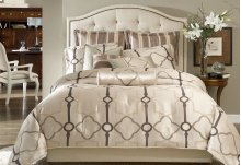 9 Pc Queen Comforter set Pearl