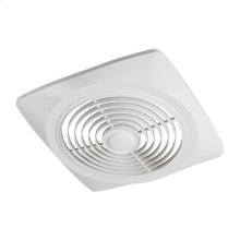 """10"""" 270 CFM Side Discharge Fan, White Square Plastic Grille"""