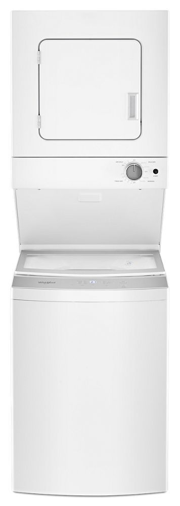 Whirlpool1.6 Cu.Ft Electric Stacked Laundry Center 6 Wash Cycles And Autodry