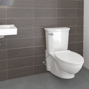 Glenwall VorMax Wall Hung Elongated Commercial Toilet  American Standard - White