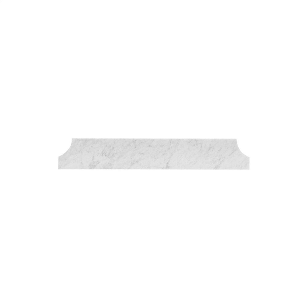 """Carrara White Marble Cove Style Backsplash 30.5"""" Wide"""