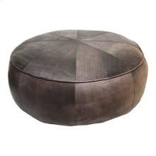 Arthuro Leather Ottoman Antique Brown