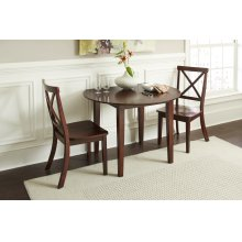 Everyday Classics Drop Leaf Table With 4 Ladder Back Chairs- Cherry
