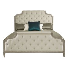 King-Sized Marquesa Upholstered Bed in Gray Cashmere (359)