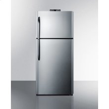 21 CU.FT. Break Room Refrigerator-freezer With Stainless Steel Doors, Black Cabinet, and Nist Calibrated Alarm/thermometers