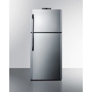 Summit21 CU.FT. Break Room Refrigerator-freezer With Stainless Steel Doors, Black Cabinet, and Nist Calibrated Alarm/thermometers