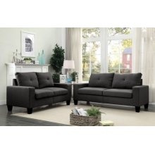 PLATINUM II GRAY SOFA/LOVESEAT