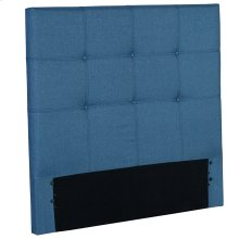 Henley Fashion Kids Button-Tuft Upholstered Headboard, Denim Blue Finish, Full